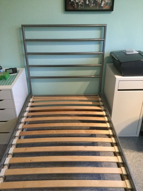 Ihram Kids For Sale Dubai: Ikea Heimdal Single Bed Frame With Sprung Slat Base