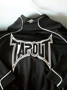 MENS FULL ZIP SIZE XXL JACKET TAP OUT MMA BRANDED