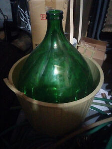 ^*^*^*^*^*^*^*^*^ Demijohn Carboy 54L w Basket, TWO, Excellent !