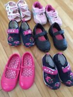 Girls shoes. Ranges from size 4 to size 7