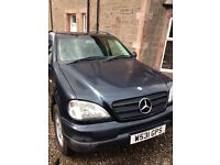 Mercedes ML270 diesel, 6 speed manual, 2000 W reg., 7 seats, low miles