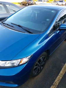 2014 Blue Honda Civic Sedan EX