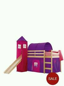 Kidspace Galaxy Midsleeper With Tent, Tower, Tunnel And Slide