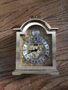 Tempus Fugite brass coach clock $15