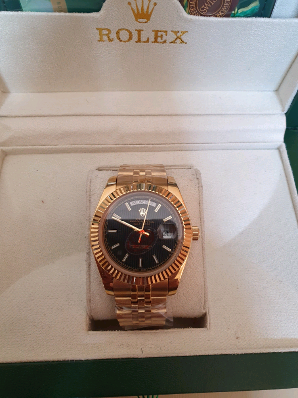 Day-date gold with black dial watch | in Moston, Manchester | Gumtree