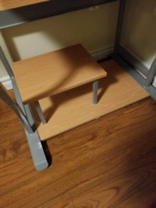 Computer desk with keyboard tray and footrest $40 OBO