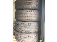 4 x Car Tyres for sale