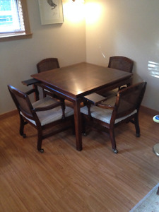 Card/Games Table with 4 chairs - Use for a kitchen nook