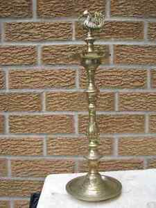 Traditional brass oil lamp
