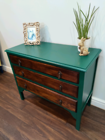 Painted vintage chest of drawers. Free local delivery available.