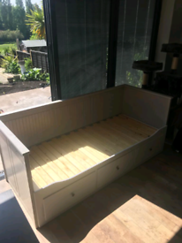 Uesed Bed with drawers