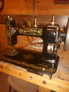 White Rotary  Antique Sewing Machine