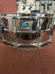 Snare ludwig supraphonic 14x6.5 badge blue olive