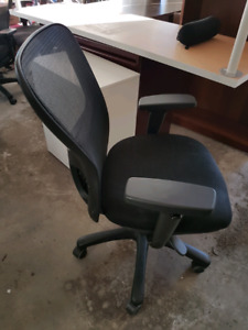 Great shape black office chairs. Only one left!