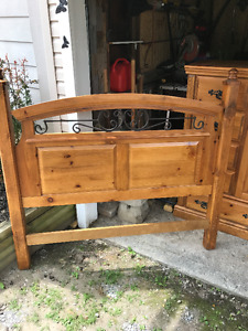 Queen head board & matching dresser