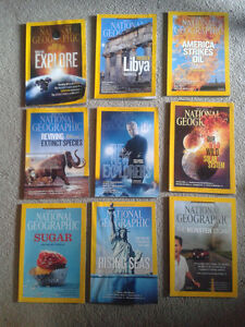 34 National Geographic Magazines for Sale