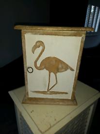 Wooden key holder cupboard.