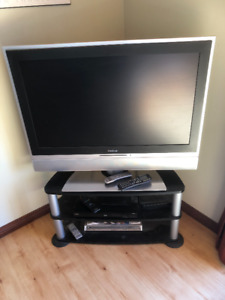 42 inch TV with DVD and corner stand