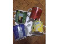 Boxed set of 4 mugs.