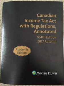 Lakehead University 4th Year Taxation Textbook Bundle 2017