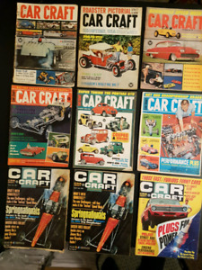 9 Vintage Car Craft Magazines from the 1960's