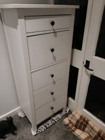 IKEA HEMNES TALL BOY, 5 DRAWER, GREAT CONDITION