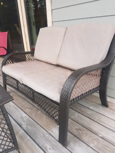 Patio Love Seat and Table