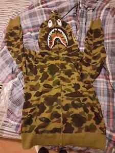 Authentic Large Bape Camo Shark Hoodie