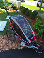 Chariot Stroller - Excellent Condition, Red/Black/Grey