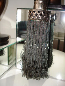 MOROCCAN PERSIAN FLAVOUR silk beaded punched metal TASSEL large Cambridge Kitchener Area image 1