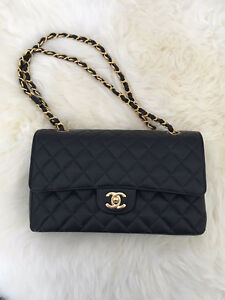 authentic Chanel M/L classic double flap