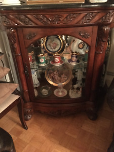 Solid wood display cabinet for sale!
