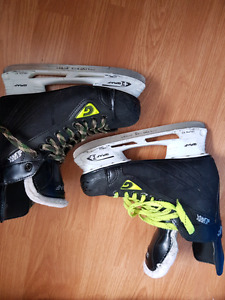 3 pair hockey skates