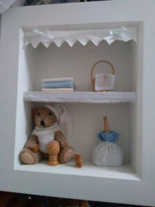 2 cute wall shadow boxes for a little boy