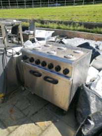 Commercial Lincat oven and hob 6 burner