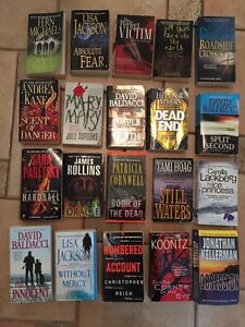 20 ASSORTED murder/mystery/thriller books
