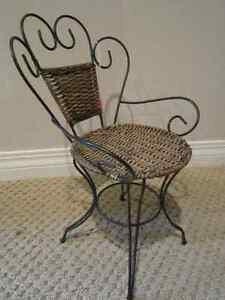 Old Fashioned Wicker and Metal Doll Chair Regina Regina Area image 2