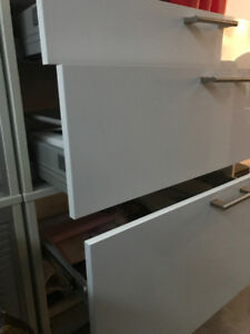 USED IKEA FILING CABINETS WITH STORAGE ( BUSINESS)