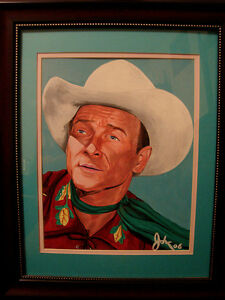 FOR SALE BY ARTIST 1 OF A KIND ORIGINAL ROY ROGERS PAINTING