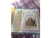 Wedding certificate holder and photo frame