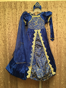 Halloween Princesses 10-12 ans Marquise Robe Voile Couronne