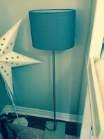 Grey stand up lamp