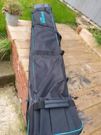 Fishing rod holder and bag and net bag