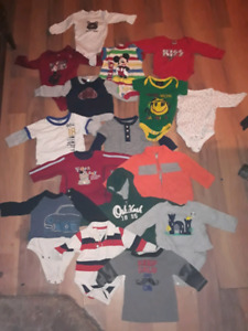 3 to 6 MONTHS ( 65 PIECES OF CLOTHING)