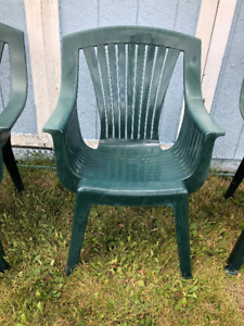 Green Plastic Lawn Chairs