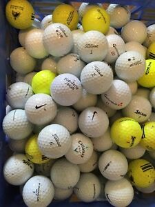 White & Yellow Golf Balls for sale