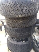 Cobalt 5 bolt steal rims and brand new tires!!!