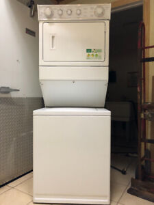 """2Yr old 27"""" whirlpool thin twin laundry centre+warranty for sale"""