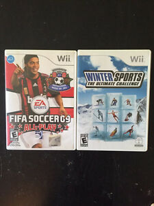 Wii games: FIFA Soccer and Winter Sports