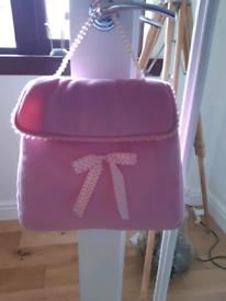 Kids Pink Cushion in the shape of a handbag